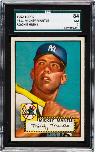 1952 Topps Mickey Mantle SGC 84
