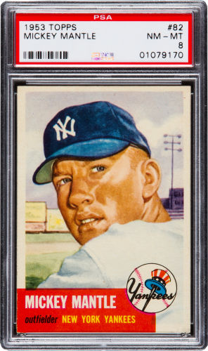 1953 Topps Mickey Mantle PSA 8