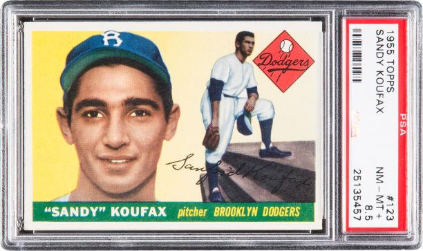 1955 Topps Sandy Koufax PSA 8-5