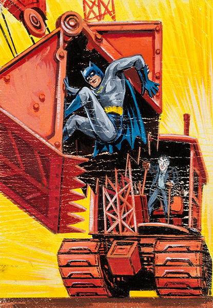 1966 Batman Blue Bat Orginal Art 30 Norman Saunders Bob Powell 600