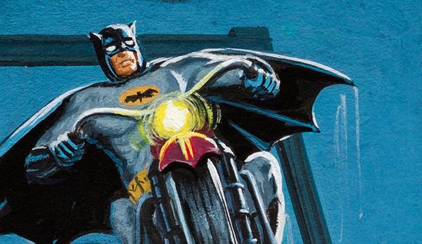 1966 Batman Red Bat Orginal Art 10 Norman Saunders Bob Powell header b