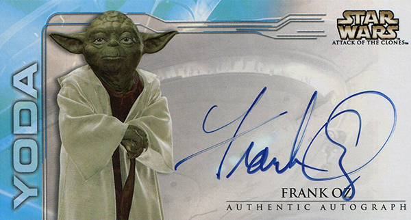 2002 Star Wars Attack of the Clones Widevision Frank Oz Autograph