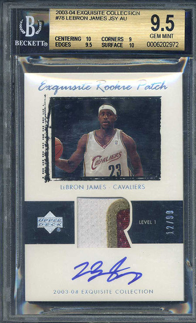 2003-04 Upper Deck Exquisite LeBron James BGS 9-5