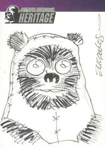 2004 Star Wars Heritage Sketch Card