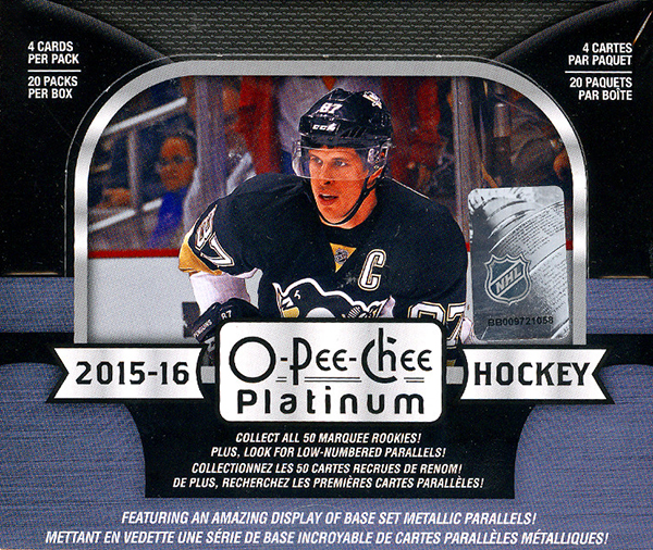 2016-17 Upper Deck O-Pee-Chee Platinum Hockey Hobby Box
