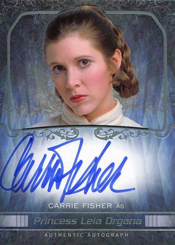 2015 Star Wars Masterwork Carrie Fisher Autograph