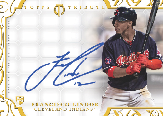 2015 Topps Tribute Mystery Redemption Autograph Francisco Lindor