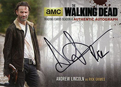 2016 Cryptozoic Walking Dead Season 4 Part 1 Autographs Andrew Lincoln feature