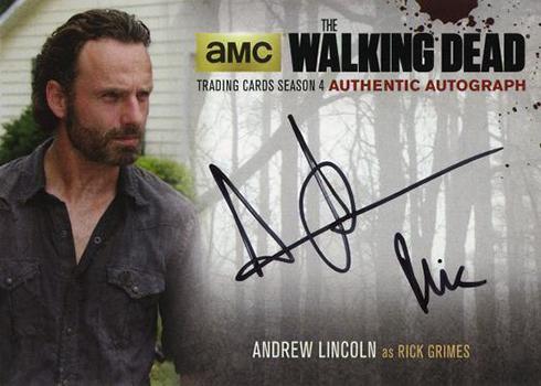 2016 Cryptozoic Walking Dead Season 4 Part 2 Autographs Andrew Lincoln