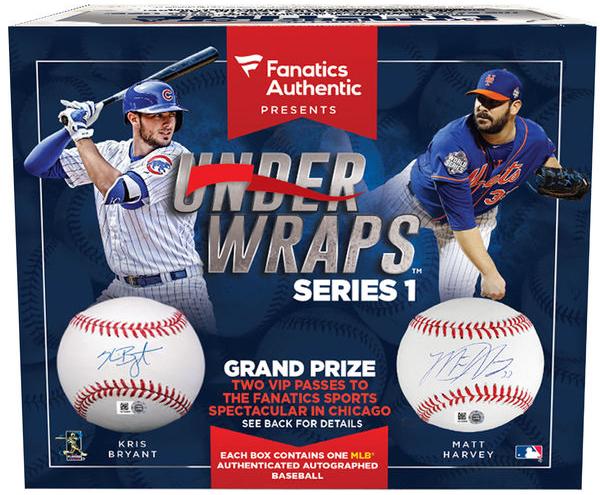 2016 Fanatics Authentics Under Wraps Series 1 Box