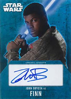 2016 Star Wars Evolution Autographs John Boyega
