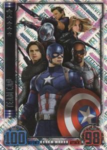 2016 Topps Hero Attax Marvel Cinematic Universe Unique Holofoil Team Cap