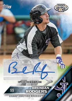 2016 Topps Pro Debut Baseball Checklist - Pro Debut Autographs