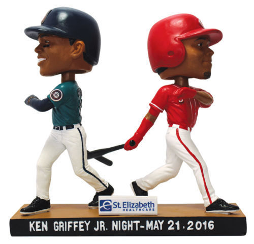 Ken Griffey Jr 2016 Cincinnati Reds Mariners Dual Bobblehead