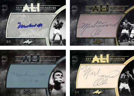 Leaf Muhammad Ali Immortal Collection Cut Signatures