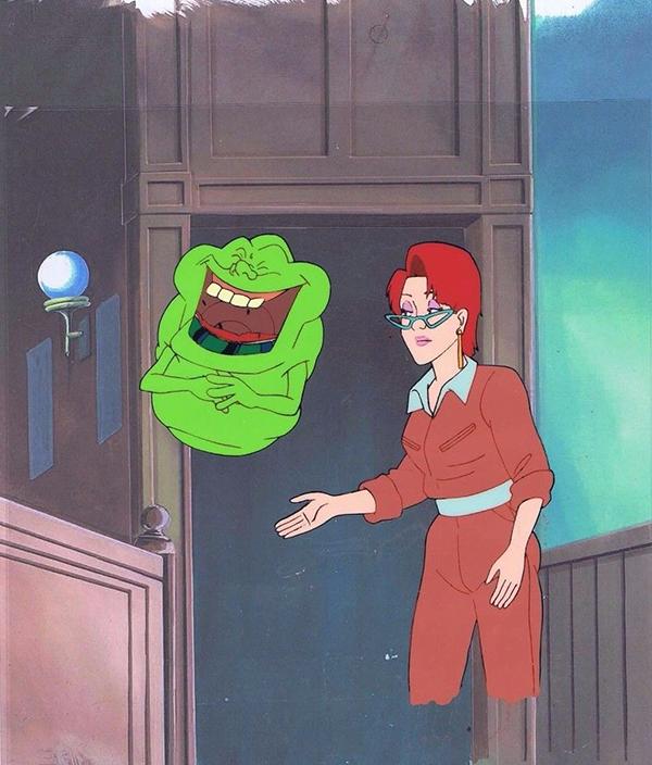 Real Ghostbusters Cel Slimer Janine