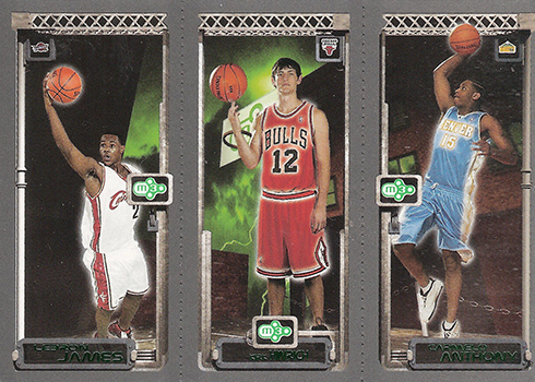 03-04 Topps Rookie Matrix LeBron HInrich Anthony