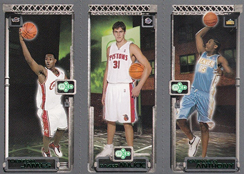 03-04 Topps Rookie Matrix LeBron Milicic Anthony