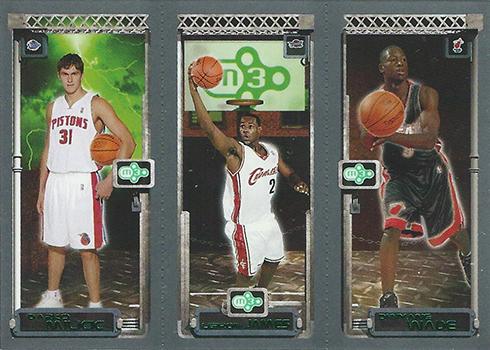 03-04 Topps Rookie Matrix LeBron Milicic Wade