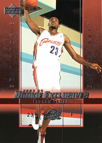 03-04 Upper Deck Rookie Exclusives LeBron