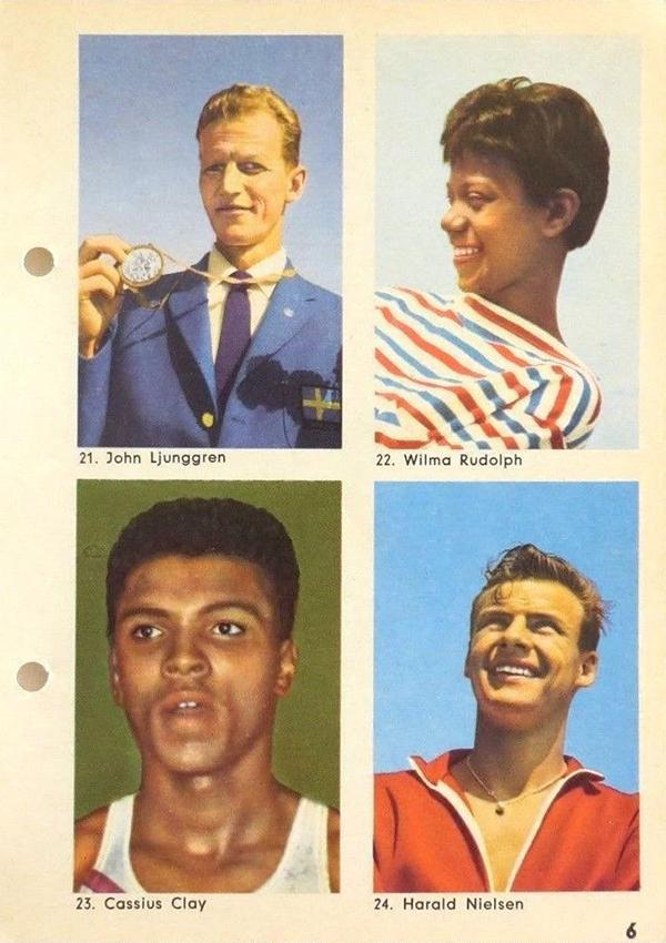 1960 Hemmets Journal Cassius Clay Sheet