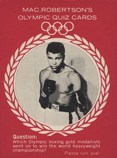 1964 Mac Robertsons Cassius Clay Front