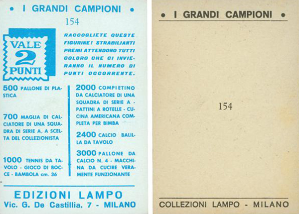 1965 Lampo Cassius Clay Back Variations
