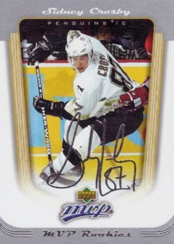 2005-06 Upper Deck MVP Sidney Crosby RC