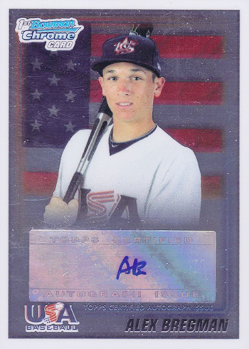 2010 Bowman Chrome USA Autographs Alex Bregman