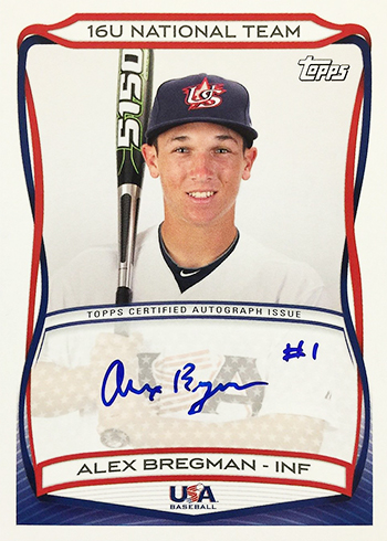 2010 Topps USA Baseball Autographs Alex Bregman