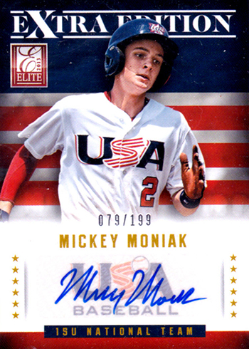 2013 Elite Extra Edition USA Baseball Autographs Mickey Moniak