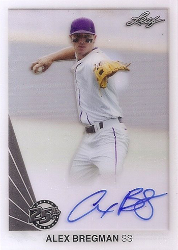 2015 Leaf 25th Clear Autographs Alex Bregman
