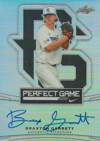 2015 Leaf Metal Draft Perfect Game Autographs Braxton Garrett