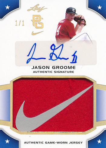 2015 Leaf Perfect Game Patch Autograph Blue Jason Groome