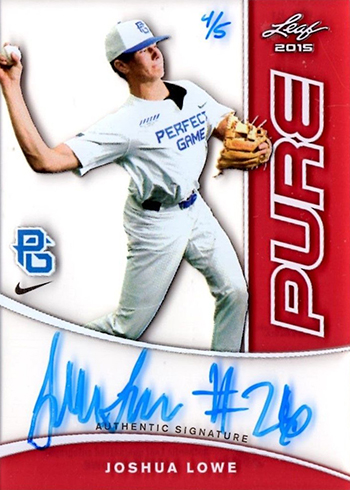 2015 Leaf Perfect Game Pure Red Autograph Joshua Lowe