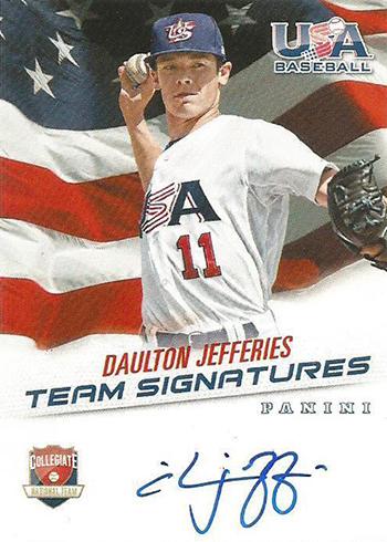 2015 Panini USA Baseball Autographs Daulton Jefferies