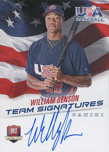 2015 Panini USA Baseball Autographs William Benson