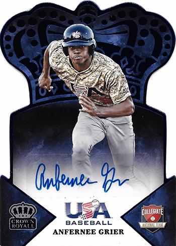 2015 Panini USA Baseball Crown Royale Autographs Anfernee Grier