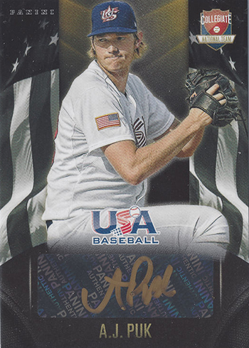 2015 Panini USA Baseball Gold Signatures AJ Puk