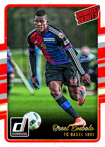2016-17 Donruss Soccer Base Donruss Debuts
