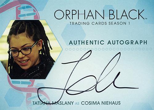 2016 Cryptozoic Orphan Black Season 1 Autographs Tatiana Maslany Cosima