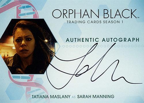2016 Cryptozoic Orphan Black Season 1 Autographs Tatiana Maslany Sarah