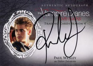 2016 Cryptozoic Vampire Diaries Season 4 Autographs Paul Wesley