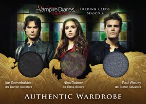 2016 Cryptozoic Vampire Diaries Season 4 Triple Wardrobe