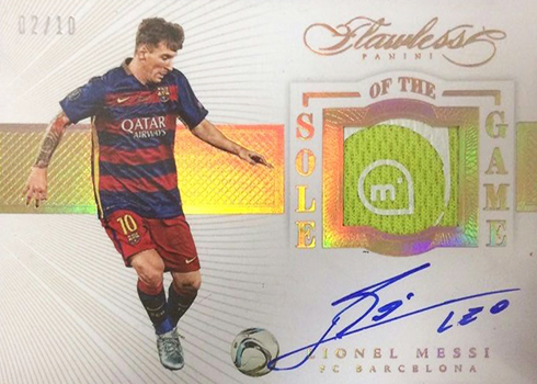 2016 Panini Flawless Soccer Sole of the Game Autographs Lionel Messi