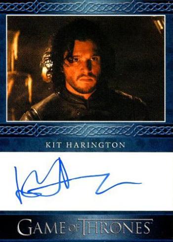 2016 Rittenhouse Game of Thrones Season 5 Autograph Blue Kit Harington