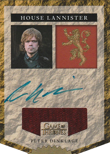 2016 Rittenhouse Game of Thrones Season 5 Autographed Relic