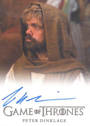 2016 Rittenhouse Game of Thrones Season 5 Autographs Full Bleed Peter Dinklage