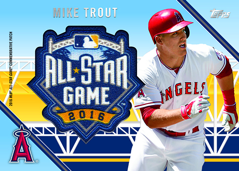 2016 Topps All-Star FanFest Patch Cards Mike Trout