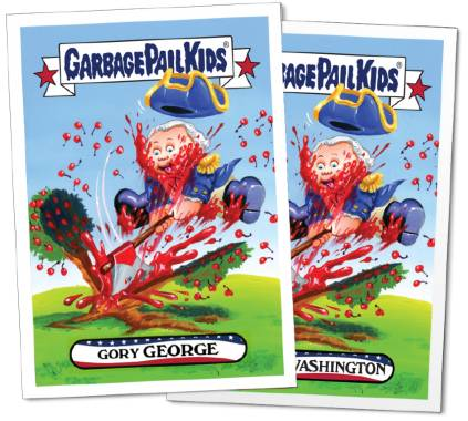 2016 Topps Garbage Pail Kids Founding Fathers Fourth of July 2 George Washington